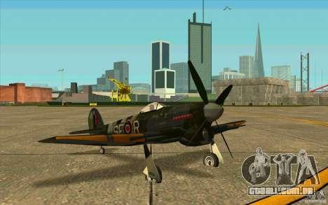 Hawker Typhoon para GTA San Andreas esquerda vista