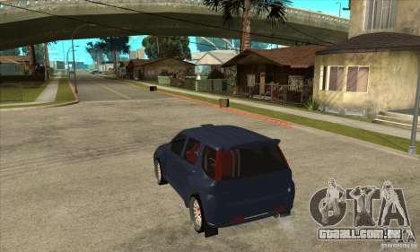 Suzuki Ignis Rally para GTA San Andreas traseira esquerda vista