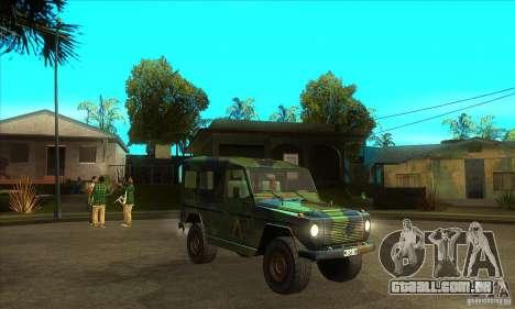 Mercedes Wolf para GTA San Andreas vista traseira