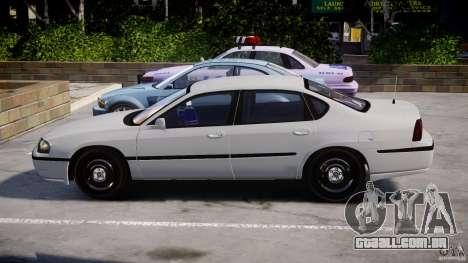 Chevrolet Impala Unmarked Police 2003 v1.0 [ELS] para GTA 4 vista interior