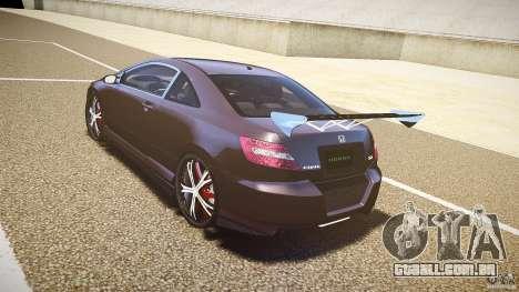 Honda Civic Si Tuning para GTA 4 traseira esquerda vista