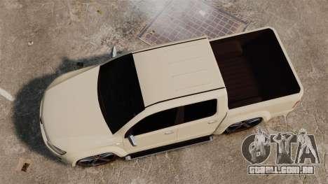 Volkswagen Amarok Light Tuning para GTA 4 vista direita