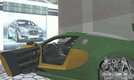 Bugatti Veyron 2005 para GTA San Andreas vista traseira