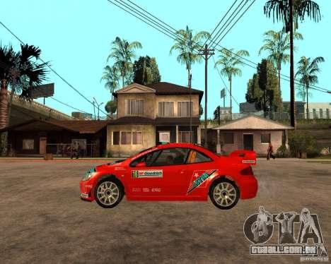 Peugeot 307 WRC para GTA San Andreas esquerda vista