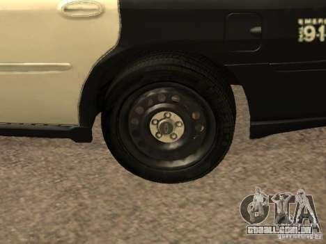 Chevrolet Impala Police 2003 para GTA San Andreas vista interior