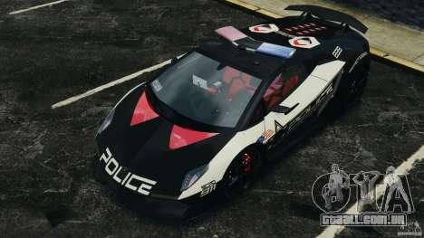 Lamborghini Sesto Elemento 2011 Police v1.0 RIV para GTA 4 interior