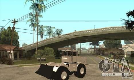 Caminhão do trator de Kirov K701 para GTA San Andreas vista direita