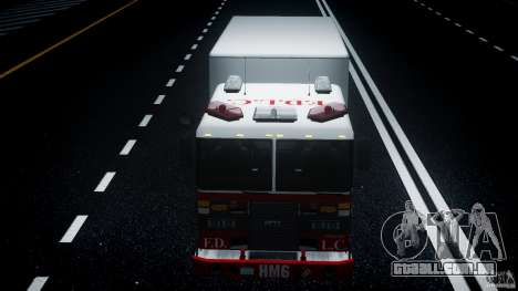 LCFD Hazmat Truck v1.3 para GTA 4 vista superior