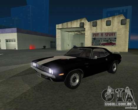 Dodge Challenger para GTA San Andreas traseira esquerda vista