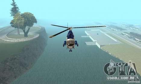 Mi-2 canais para GTA San Andreas vista traseira