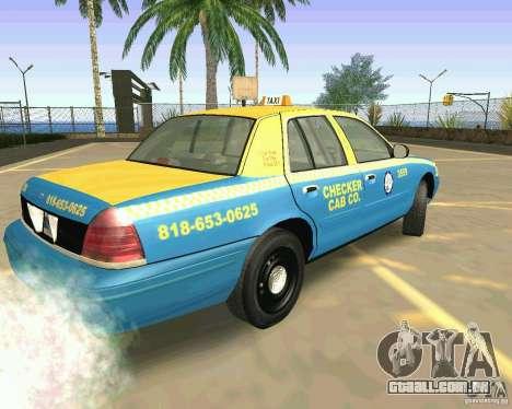 Ford Crown Victoria 2003 Taxi Cab para GTA San Andreas esquerda vista