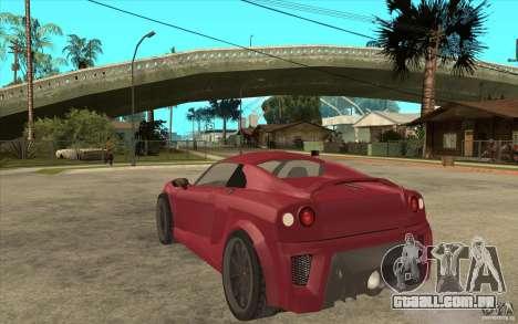 Mastretta MXT para GTA San Andreas traseira esquerda vista