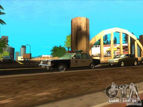 Dodge Diplomat 1985 LAPD Police para GTA San Andreas vista direita