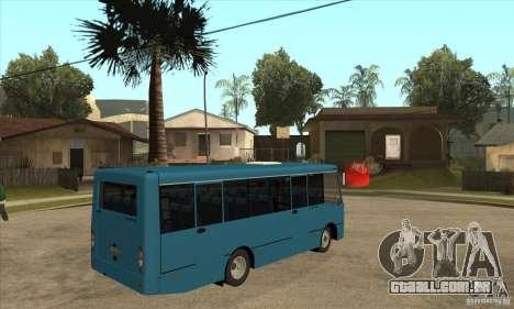 Bogdan A0921 turística para GTA San Andreas vista direita