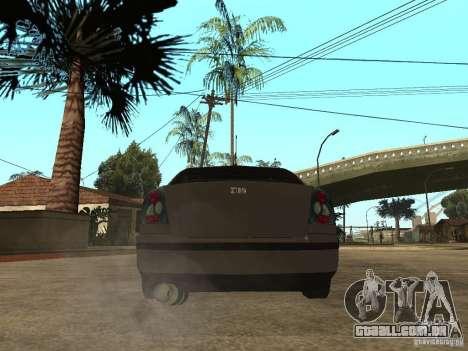 Skoda Octavia Custom Tuning para GTA San Andreas traseira esquerda vista