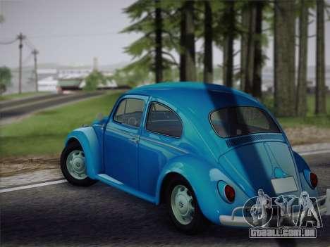 Volkswagen Beetle 1967 V.1 para GTA San Andreas vista direita