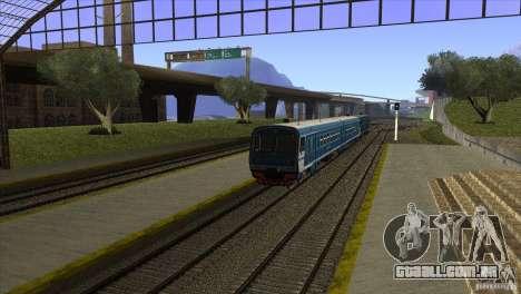Um novo algoritmo de trem 5 para GTA San Andreas por diante tela
