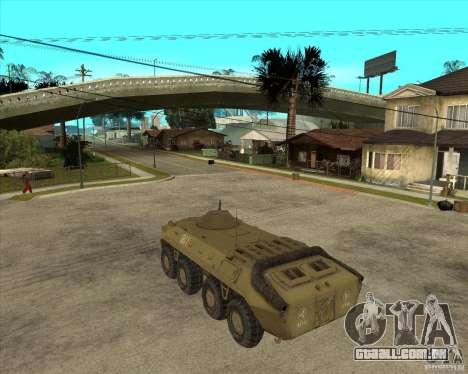 O APC da s. l. a. t. k. e. R para GTA San Andreas esquerda vista