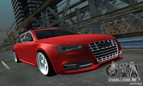 Audi A6 Avant Stanced para GTA San Andreas