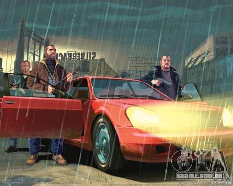 Imagens de inicialização no estilo do GTA IV para GTA San Andreas por diante tela