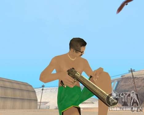 Gold weapons pack para GTA San Andreas segunda tela
