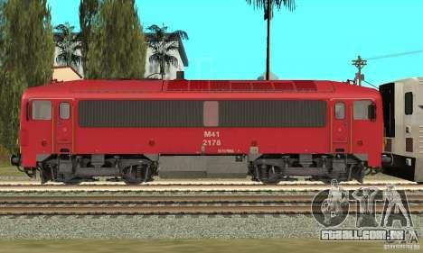 M41 Locomotiva a Diesel para GTA San Andreas esquerda vista