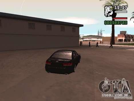 Hyundai Sonata Edit para GTA San Andreas vista direita