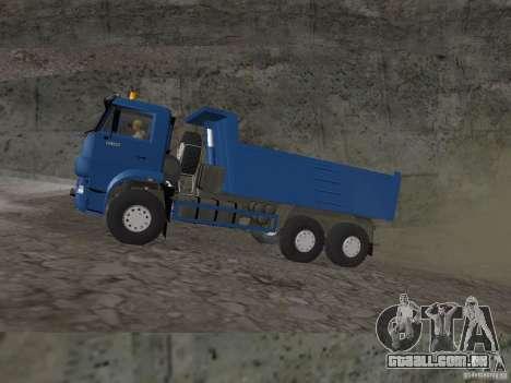 KAMAZ 65222 para GTA San Andreas traseira esquerda vista