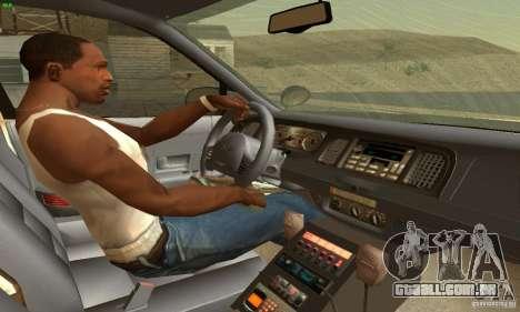 Ford Crown Victoria North Dakota Police para GTA San Andreas traseira esquerda vista