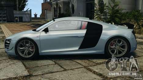 Audi R8 GT 2012 para GTA 4 esquerda vista