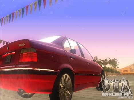 BMW E36 para GTA San Andreas vista traseira