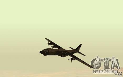 C-130 From Black Ops para GTA San Andreas esquerda vista