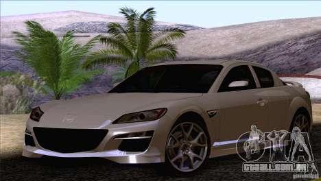 Mazda RX8 R3 2011 para GTA San Andreas vista direita