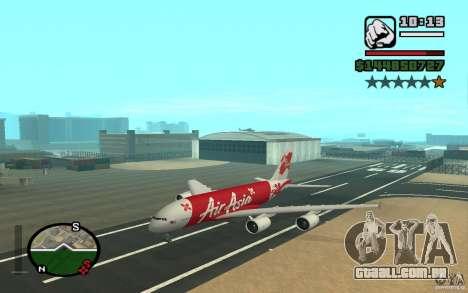 Airbus A380 800 Air Asia para GTA San Andreas