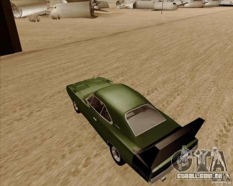 Dodge Charger Daytona 1969 para GTA San Andreas traseira esquerda vista