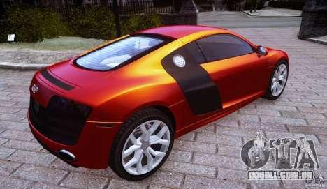 Audi R8 V10 para GTA 4 esquerda vista