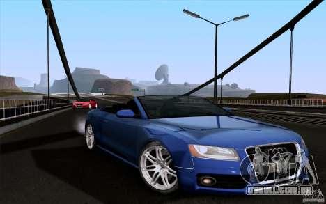 Audi S5 Cabriolet 2010 para GTA San Andreas traseira esquerda vista