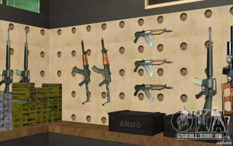 Loja de arma S. T. A. L. k. e. R para GTA San Andreas nono tela