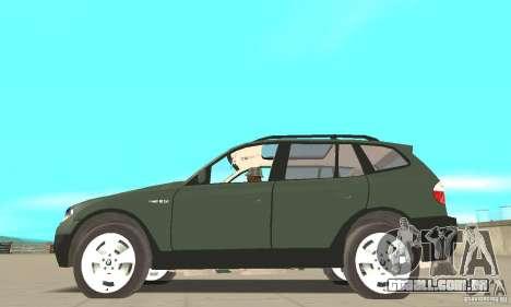 BMW X3 2.5i 2003 para GTA San Andreas esquerda vista