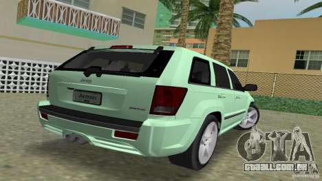 Jeep Grand Cherokee para GTA Vice City deixou vista
