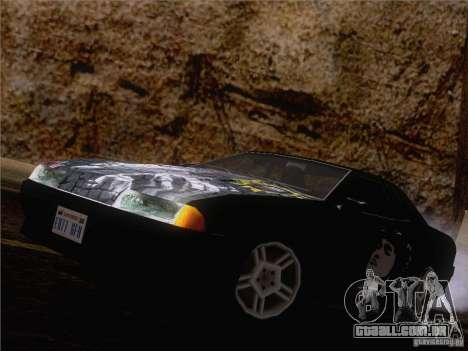Vinil Viktor Tsoi para GTA San Andreas vista traseira