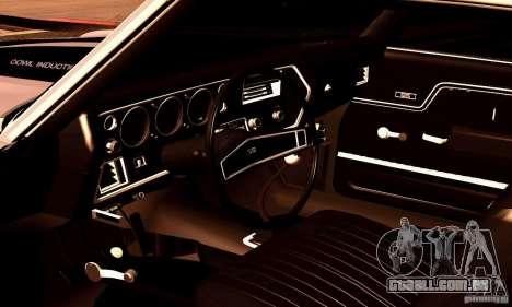 Chevrolet Chevelle 1970 para GTA San Andreas interior