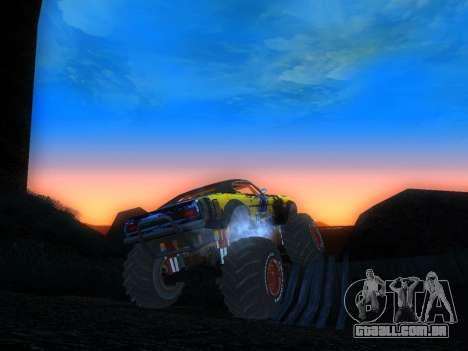 Fire Ball Paint Job 2 para GTA San Andreas traseira esquerda vista