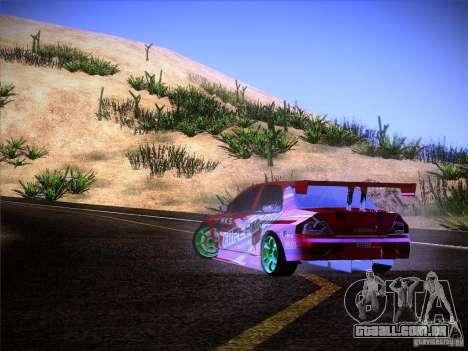 Mitsubishi Lancer Evolution 9 Hypermax para GTA San Andreas vista superior