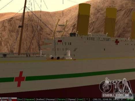 HMHS Britannic para GTA San Andreas vista inferior