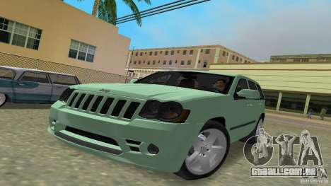 Jeep Grand Cherokee para GTA Vice City vista traseira esquerda