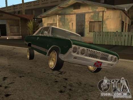 Mercury Park Lane Lowrider para GTA San Andreas traseira esquerda vista