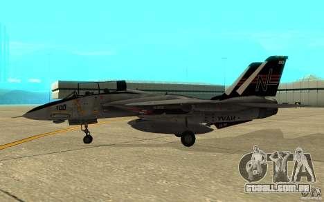F-14A Screaming Eagles VF-51 para GTA San Andreas traseira esquerda vista