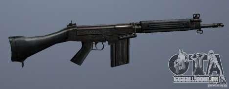 FN FAL para GTA San Andreas terceira tela