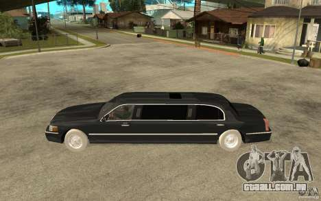 Lincoln Towncar limo 2003 para GTA San Andreas esquerda vista